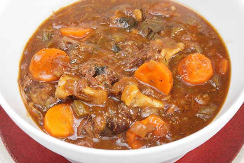 Oxtail stew, a gourmet's delight